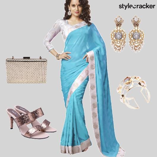 Saree Reception Ethnic  - StyleCracker