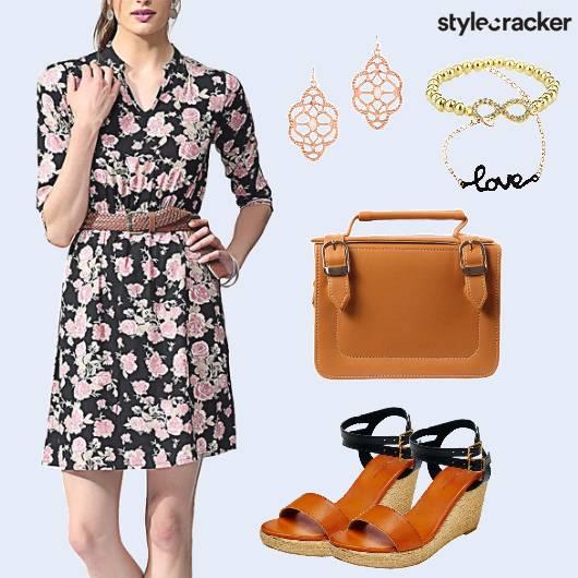 Floral Dress Brunch Wedgeheels - StyleCracker