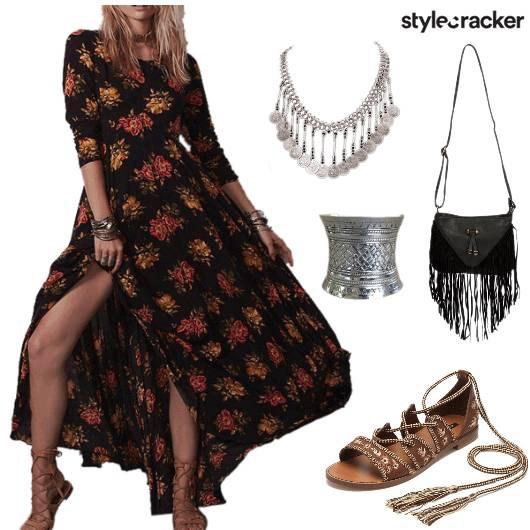 DarkFlorals Boho Weekender - StyleCracker