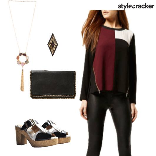 Dinner ColourBlock Top Oxfords - StyleCracker