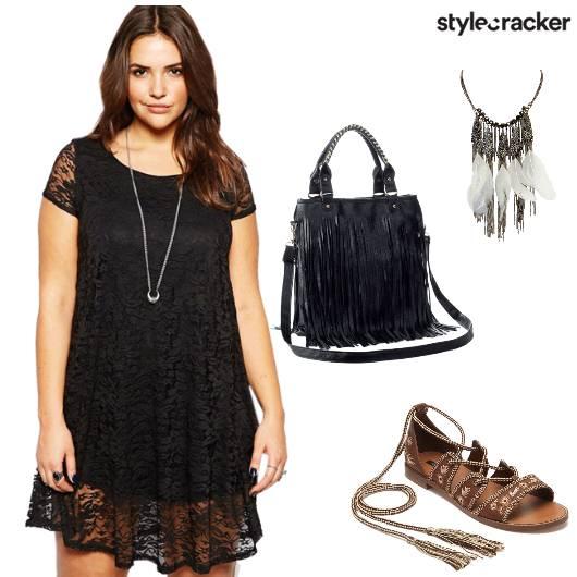 Boho Lace Black Tassel - StyleCracker