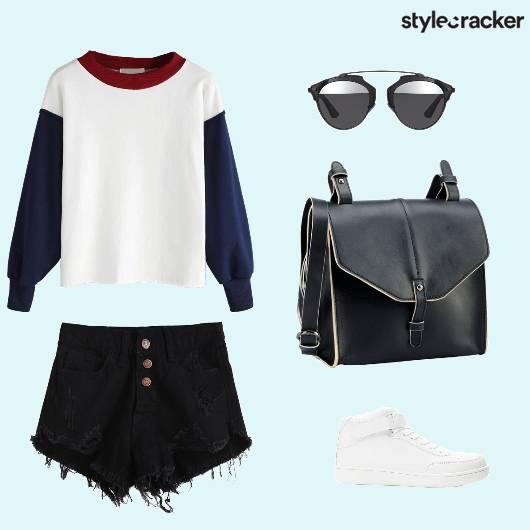 Sweatshirt Shorts Sneakers Casual - StyleCracker