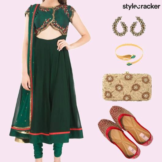 Festive Indian AnarkaliSuit Juttis - StyleCracker