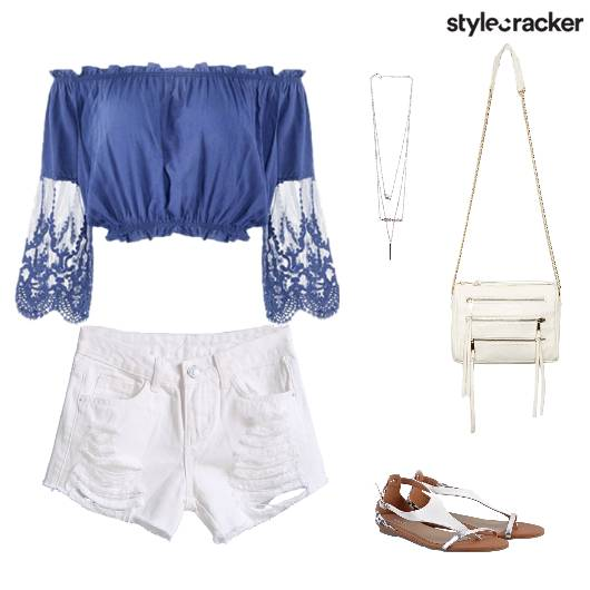 Casual Offtheshoulder Shorts - StyleCracker