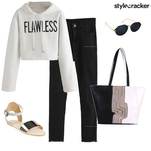 Casual Monochrome Sweatshirt - StyleCracker