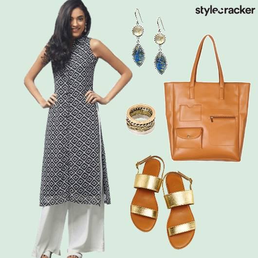CafeCoffeeDay Indian Casuals Comfy Kurta Palazzo  - StyleCracker