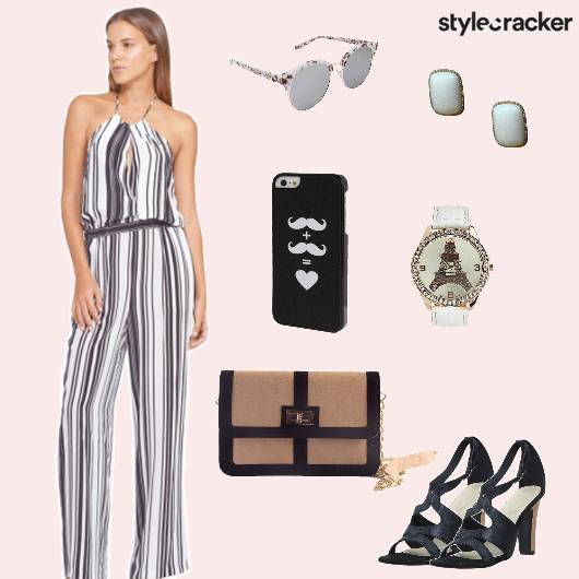 Jumpsuit heels Slingbag Party - StyleCracker