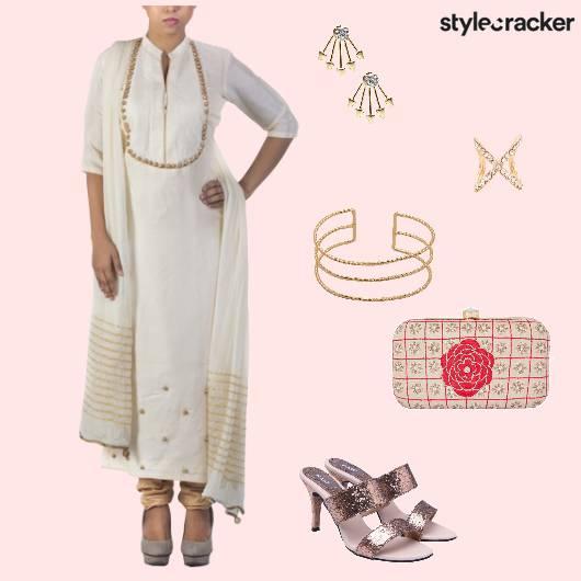 Suit Heels Clutch Ethnic - StyleCracker