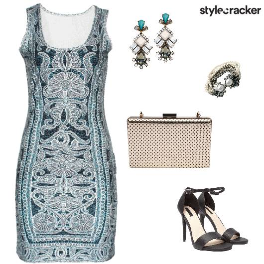Nightout Party Printed Bodycon - StyleCracker