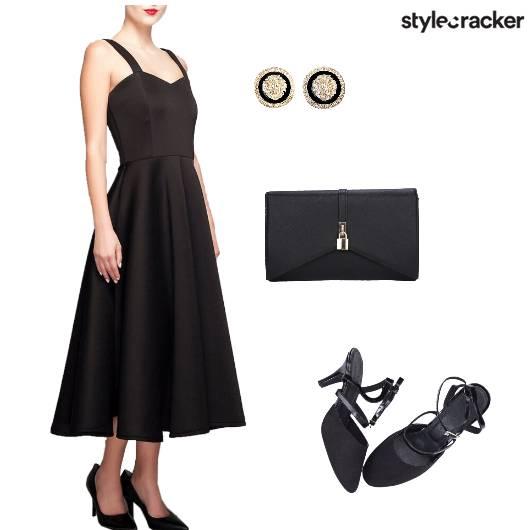 Nightout Black Mididress Formal - StyleCracker