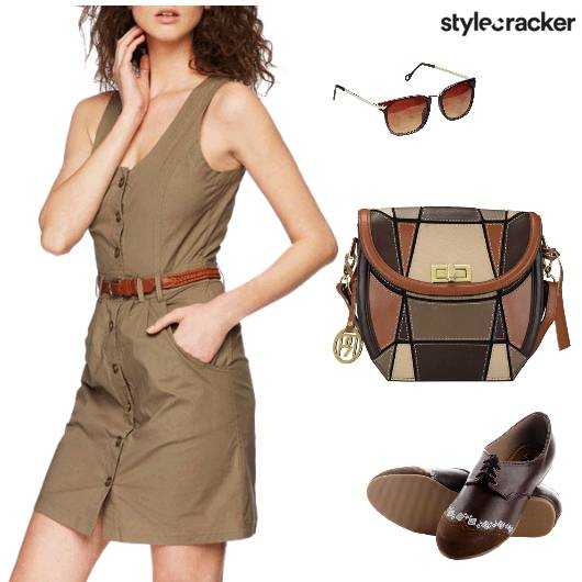 Tan Casual Streetstyle Dress - StyleCracker