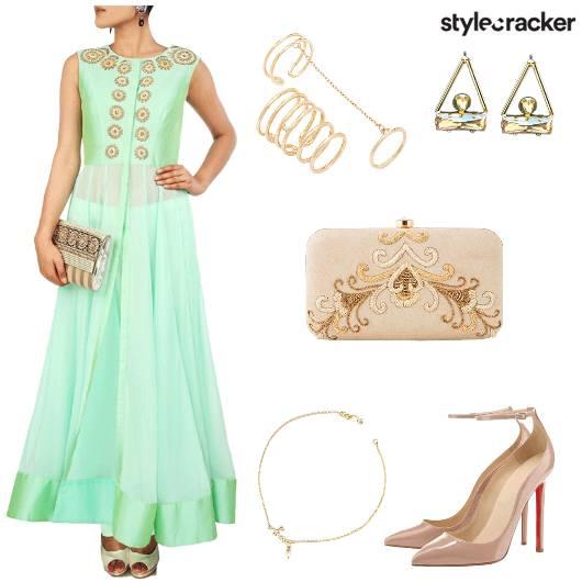 Anarkali Heels Ring Anklet Clutch - StyleCracker
