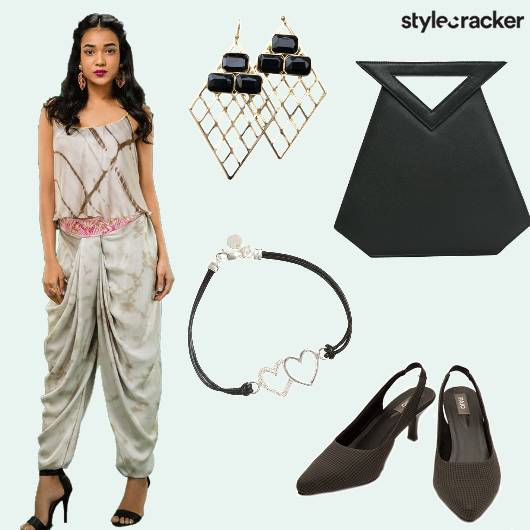 Dhoti Kurti Bracelet Earrings  - StyleCracker