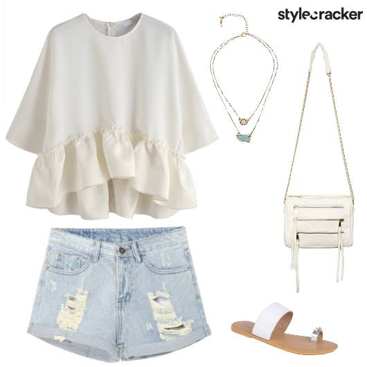 Smartcasual white shorts  - StyleCracker