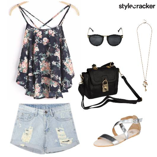 SummerisHere FloralTop DenimShorts - StyleCracker