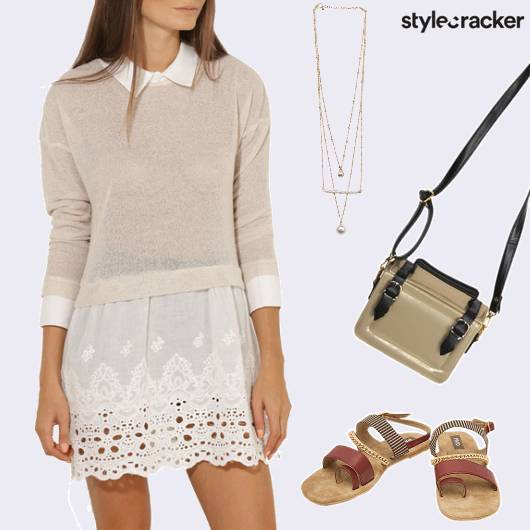 Casual Daywear ContrastDress  - StyleCracker