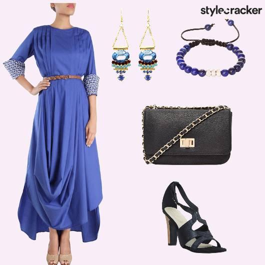 Gown Earrings SlingBag Heels - StyleCracker
