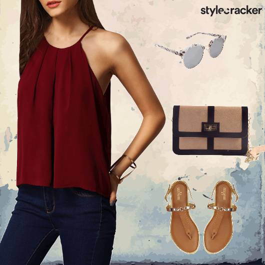 Denims Top Flats Satchelbag Casual - StyleCracker
