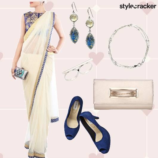Saree Heels Clutch Bracelet Danglers - StyleCracker