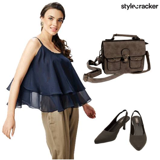 Semiformal Ruffles Layers Navy - StyleCracker