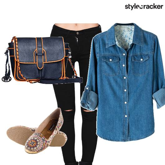 DenimOnDenim FlatShoes Movie - StyleCracker