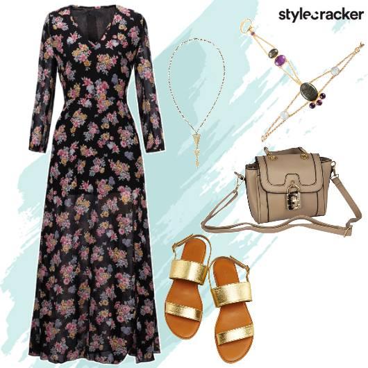 Floral Maxi Brunch Strappy Flats - StyleCracker