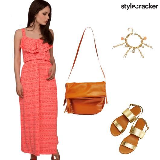 Printed Bright Daydress Casual - StyleCracker