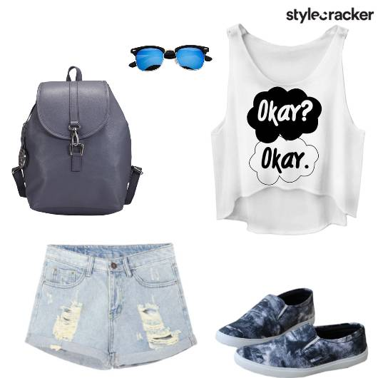 Casual College Top Shorts - StyleCracker