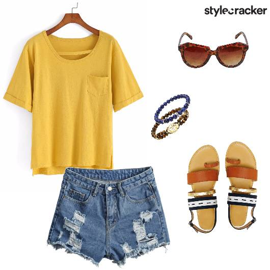 Brights Casual Ripped Beachday - StyleCracker