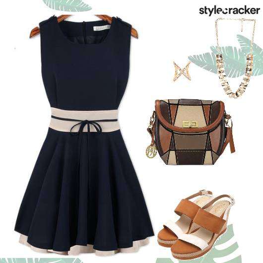 Day Lunch SkaterDress WedgeHeels - StyleCracker