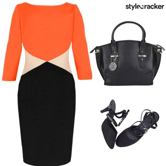 Colourblock Bodycon Dress Formal - StyleCracker
