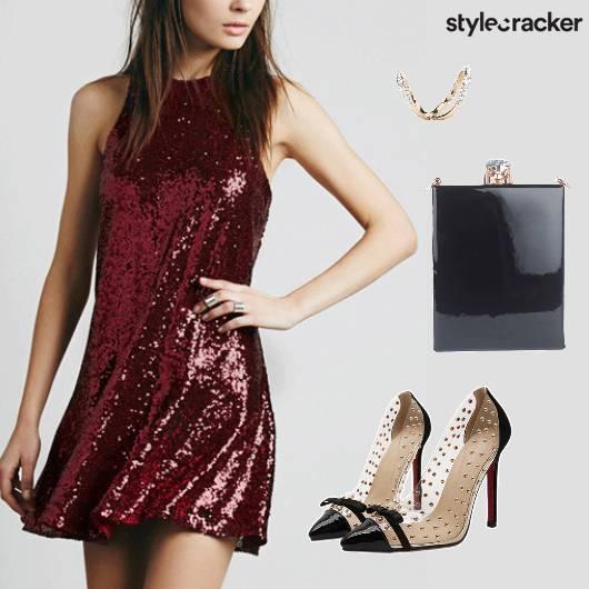 Glitter Dress Party Nightout  - StyleCracker