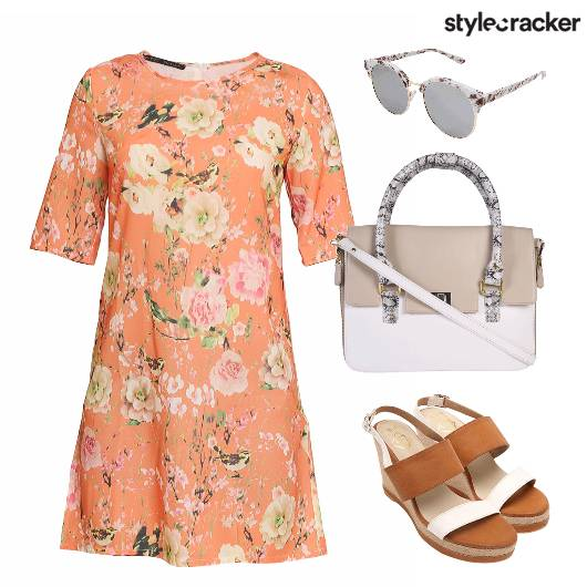 Floral Dress Wedges Brunch Sunglasses - StyleCracker