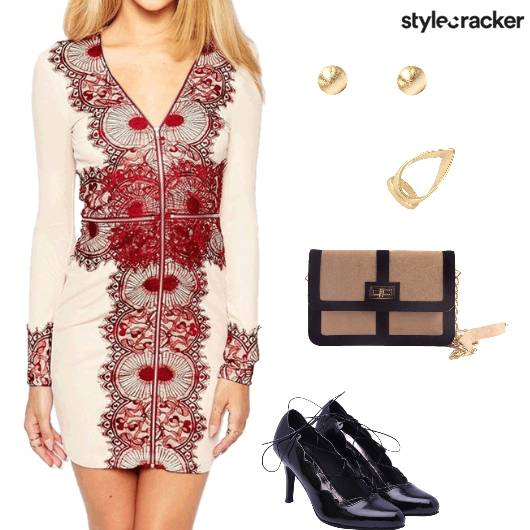 Dress Bodycon Lace Pumps Dinner - StyleCracker