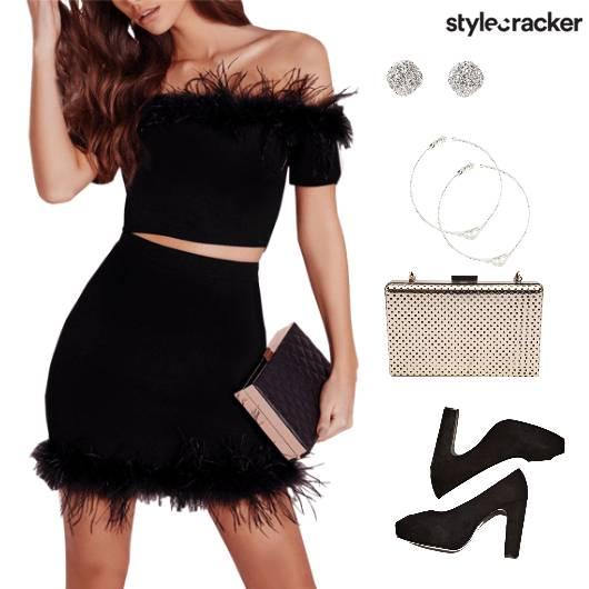 Dress Bodycon Peeptoes Boxclutch Party - StyleCracker