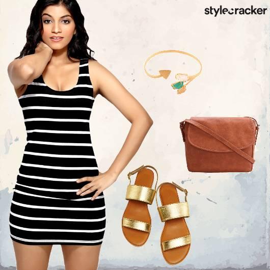 Stripes Dress Flats  - StyleCracker