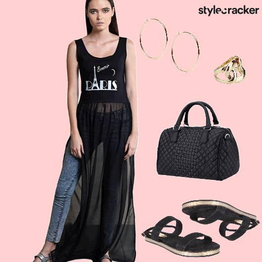 Denim  Casual SideSlits  - StyleCracker
