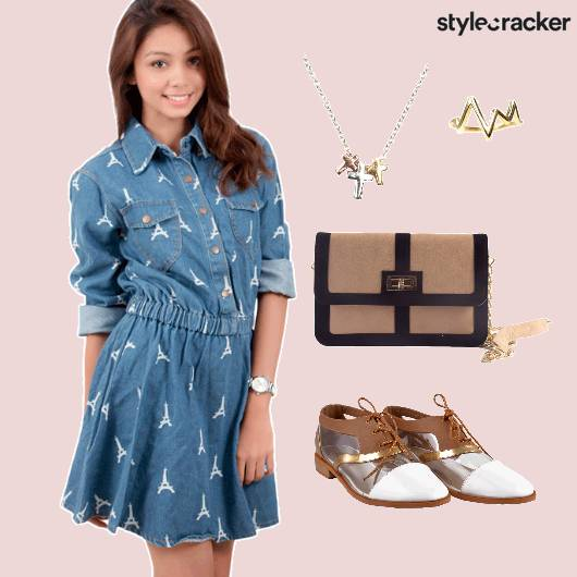 Printed Dress Shoes Cross Necklace Casual - StyleCracker
