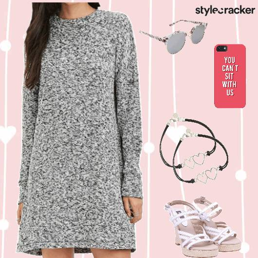 Sweaterdress Heels Brunch Casual - StyleCracker