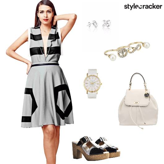 Dress Blockheels Backpack Ring Brunch - StyleCracker