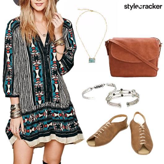Printed Dress Casual Summerfeels  - StyleCracker