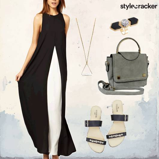 Maxidress Necklace Eveningwear  - StyleCracker
