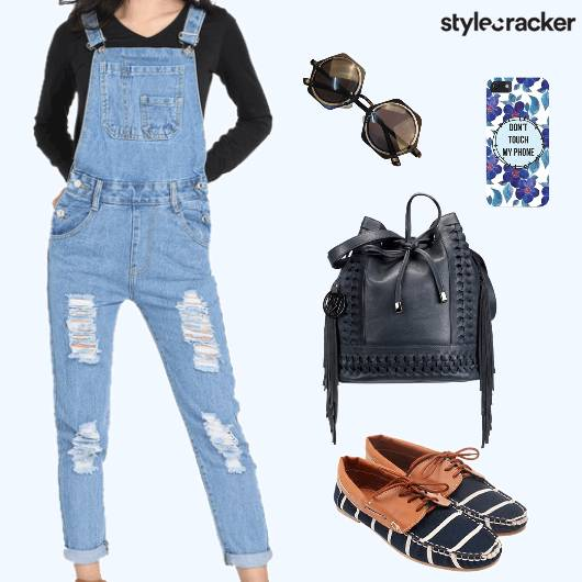 Casual DayWear Ripped Dungarees  - StyleCracker