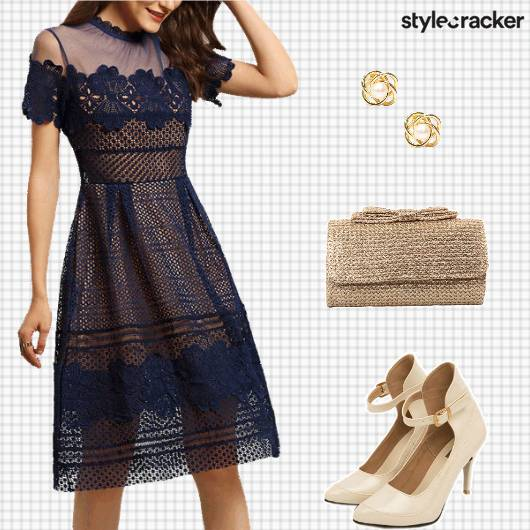 DateNight Dinner SheerDress LaceDetails - StyleCracker