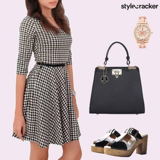 WorkWear Houndstooth Dress Oxfords - StyleCracker