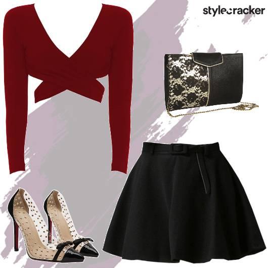 Night party CropTop Skirt - StyleCracker