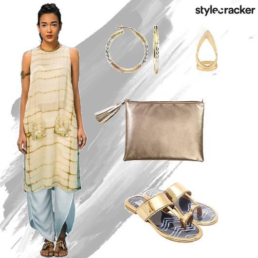 Kurti Dhoti Clutch Hoops - StyleCracker