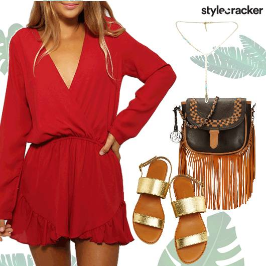Playsuit Gold Flats FringeBag  - StyleCracker