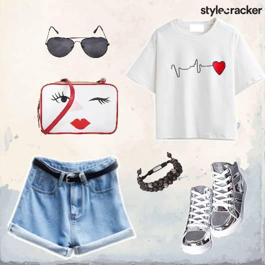 Casual GraphicTee Shorts StatementShoes - StyleCracker
