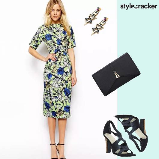 Printed Dress DressUp Formal - StyleCracker